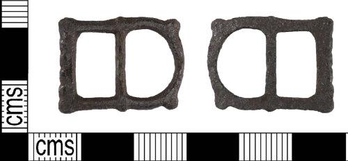 LIN-56EA55: Post-medieval copper alloy buckle