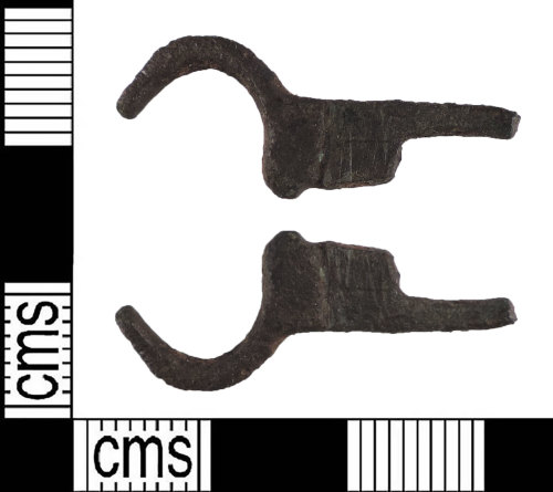 LIN-5701B9: Medieval copper alloy buckle