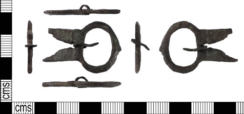 LIN-570784: Medieval copper alloy buckle