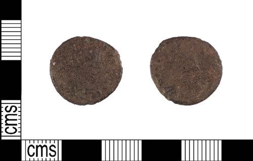 LIN-592C8C: Late Roman copper alloy nummus