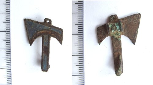 LIN-D00147: Roman votive miniature axe