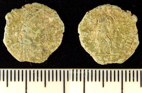 LIN-DBA891: Late Roman copper alloy nummus
