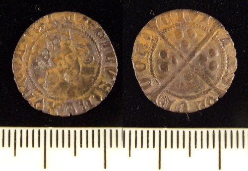 LIN-9A81F6: Medieval silver hammered penny