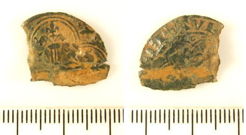 LIN-F7AAD1: Post-medieval copper alloy jetton