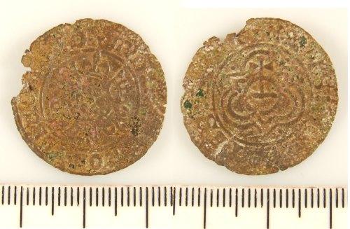 LIN-CB72A1: Post-medieval copper alloy jetton