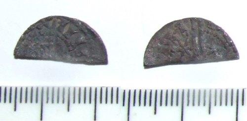 LIN-6578E5: Medieval silver cut halfpenny