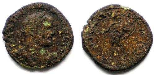 LIN-BD71E3: Late Roman copper alloy nummus
