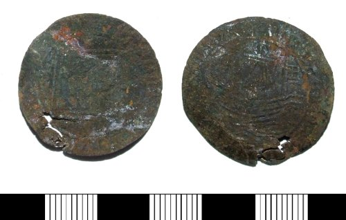 LIN-63CD48: Post-medieval copper alloy jetton