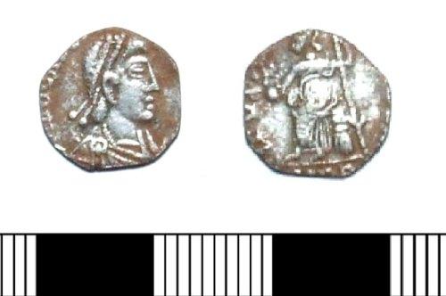 LIN-725431: Late Roman silver siliqua