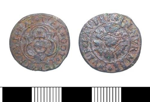 LIN-7F0205: Post-medieval copper alloy Jetton