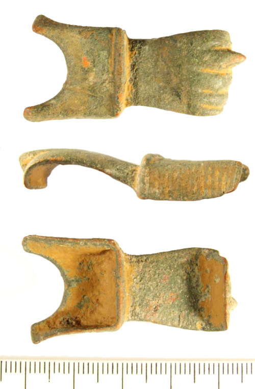 LIN-2BE126: Roman copper alloy phallic amulet