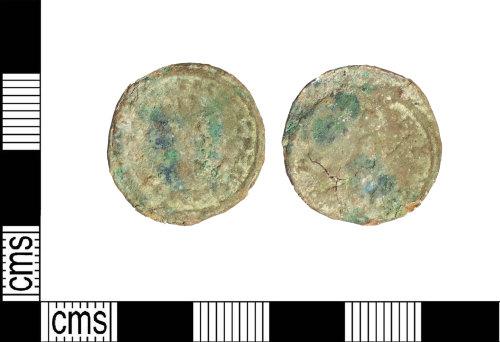 LIN-821378: Contemporary copy of a Roman copper alloy radiate of Tacitus