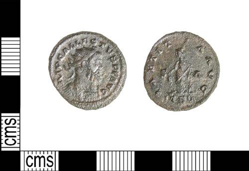LIN-837115: Roman copper alloy radiate of Allectus