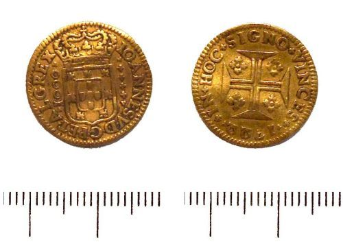 LIN-CB22F6: Post-medieval gold Portugese moidore