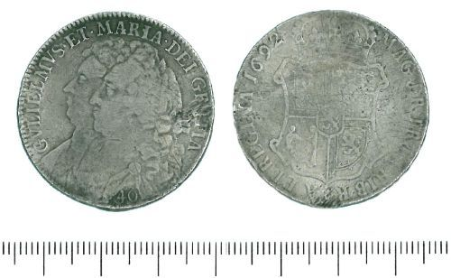 LIN-786931: Silver forty shillings of William and Mary