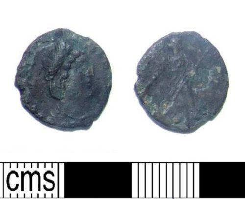 LIN-0D8BB3: Late Roman copper alloy nummus