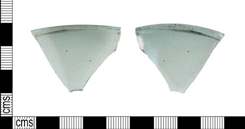 LIN-AE8D07: Anglo-Saxon glass beaker