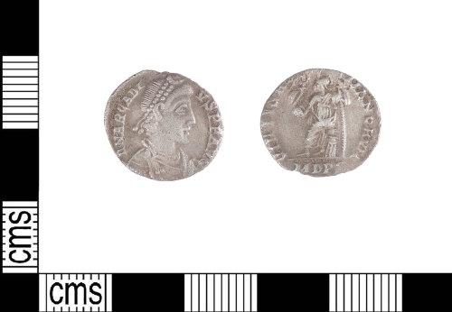 LIN-B16860: Roman silver siliqua