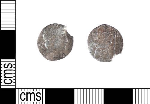 LIN-B1C0B3: Clipped late Roman silver siliqua