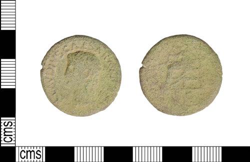 LIN-BA38A9: Roman copper alloy dupondius