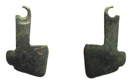 LIN-F26258: Roman copper alloy miniature axe