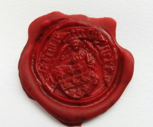A resized image of Impression of medieval seal matrix