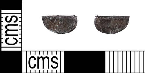 PUBLIC-DA7D4B: Medieval silver cut halfpenny