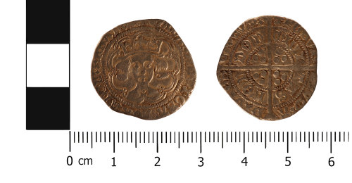 WMID-11EB49: Medieval coin: groat of Edward IV (obverse, reverse)