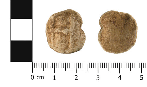 WMID-6BFA29: Medieval to Post Medieval lead token (obverse and reverse)