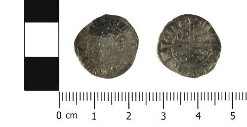WMID-8119C2: Medieval coin: Penny of Edward I, Durham mint (Obverse, reverse)