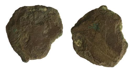 BM-6991B9: Roman coin: probable sestertius of Trajan
