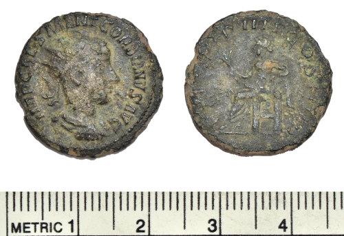 BM-86C2F4: Roman coin: radiate of Gordian III