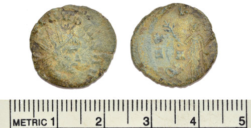 BM-8A2FDB: Roman coin: radiate of Claudius II