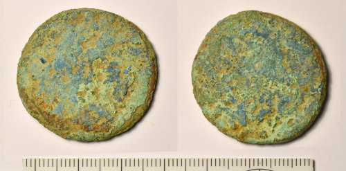 BM-ABCFBB: Roman coin: sestertius of uncertain type