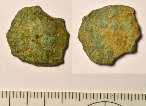 BM-BC42B9: Roman coin: radiate of Allectus
