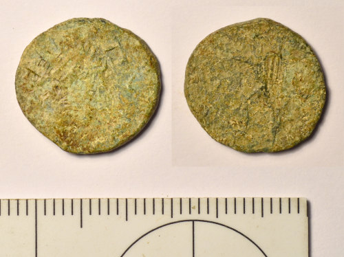 BM-D71ED8: Roman coin: barbarous radiate, probably copying a coin of Victorinus