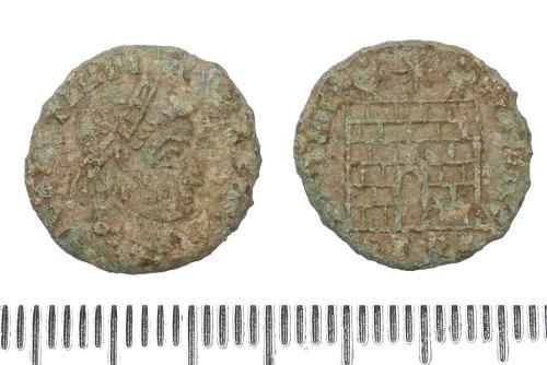 BM-DEF9C1: Roman coin: contemporary copy of a coin of Constantine II