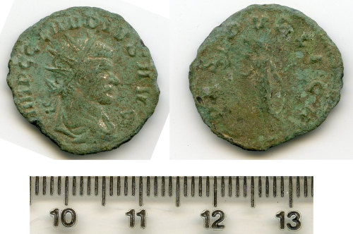 BM-E4A85B: Roman coin: radiate of Claudius II