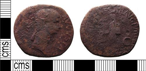 FASAM-1E9125: Roman coin: contemporary copy of a dupondius of Antonia