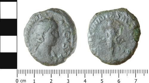 LVPL-08AD55: Roman coin: Sestertius of Julia Mamaea