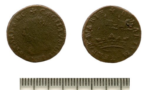 BM 8668C5 Post Medieval Coin Possible Penny Of Maryland