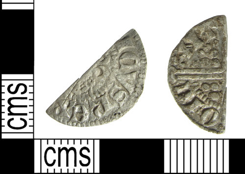 BUC-05C27A: Medieval coin: cut half penny of Henry III or Edward I