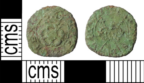 BUC-133AC2: Post medieval coin:  rose farthing of Charles I