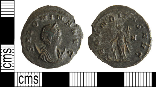 BUC-9684E1: Roman coin: Radiate of Salonina