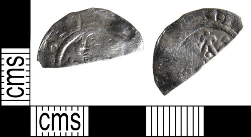 BUC-C43A0D: Medieval coin: cut half penny of Henry I