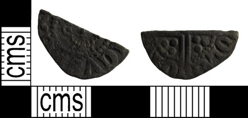 BUC-F8B201: Medieval coin: cut half penny of uncertain ruler