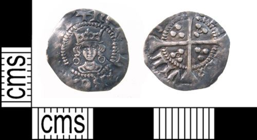 PUBLIC-5A3F82: henry VI halfpenny front and back