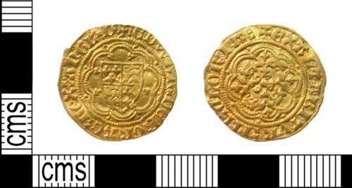 PUBLIC-C13581: edward III quarter noble front and back