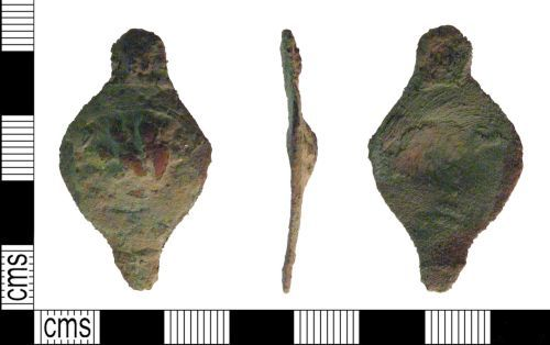 PUBLIC-28D264: post medieval strap fitting front and back