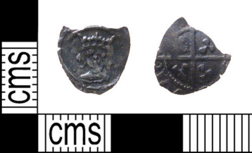 PUBLIC-3A1CA1: henry IV halfpenny front and back